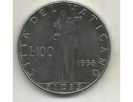 Vatican City 100 lire 1958 (12) 76.48